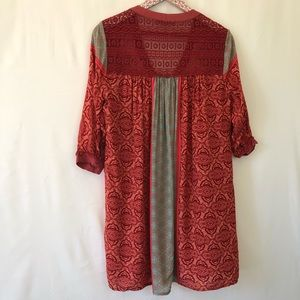 Gypsy 05 Dresses - Gypsy 05 orange and teal shirt dress size small